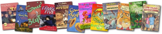 Some of the Enid Blyton books available from Navrang